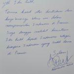 Dedicace de l'ambassadeur d'Indonésie en France à Ruth Indiathi Village Balinais